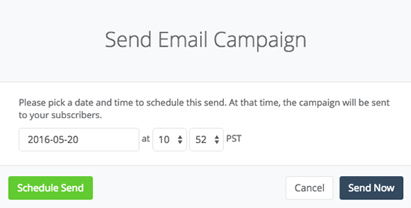 Mailing List Schedule Themes